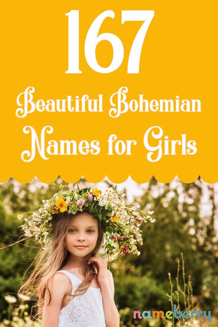 Names for a Bohemian baby girl Strong baby girl names