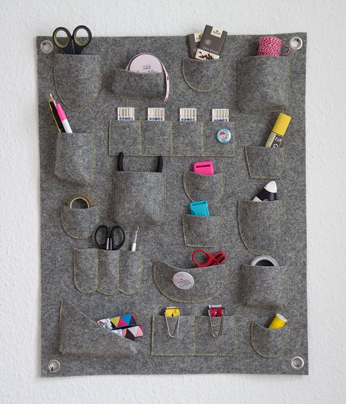 Weihnachtsgeschenk Selber Machen wandutensilo aus filz selber nähen small sewing projects crafts