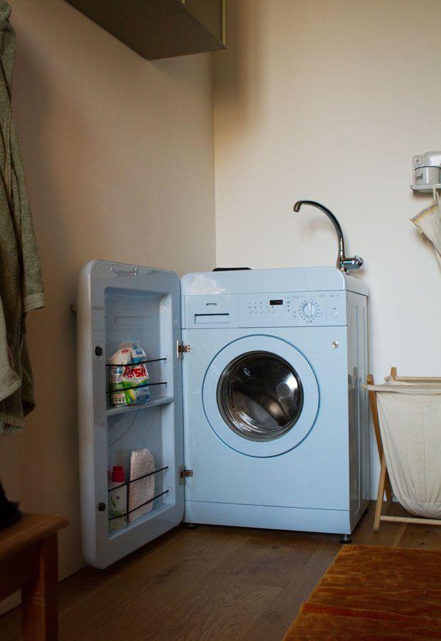 Verdeckung Mit Fächern Für Die Waschmaschine. | Little Soho
