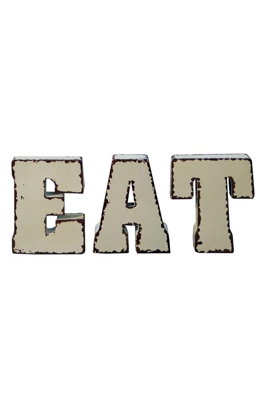 Metal Block Letters Vip International 'eat' Metal Block Letters Was Usd 59.99 Now