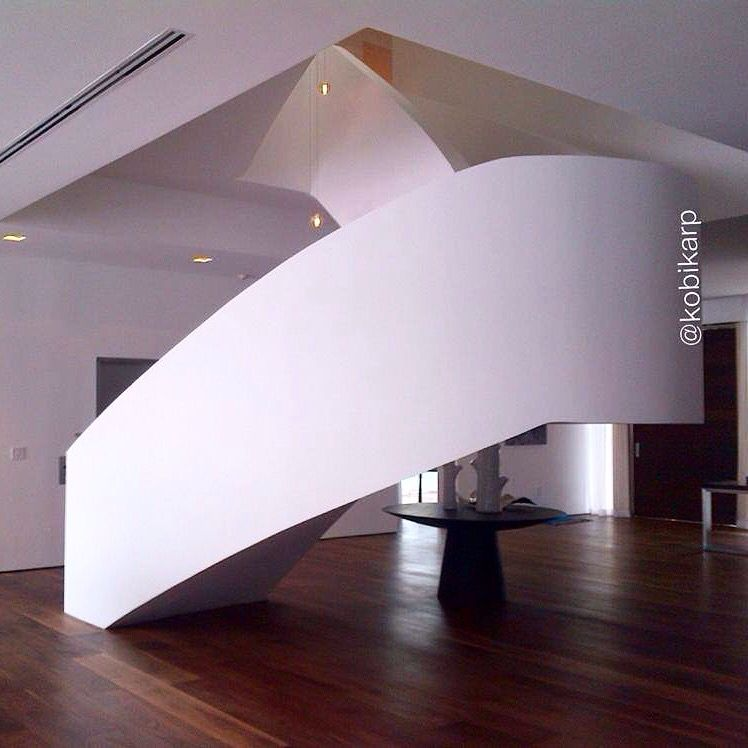 Interior of Floating Rectangles designed by #KobiKarp.    #architecture #design #interiordesign #architects #archilovers #dreamhomes #stairs #homeinteriors