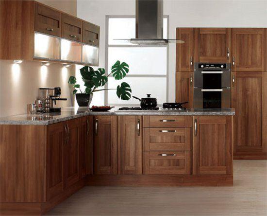 modern kitchen walnut cabinets | Walnut kitchen cabinets ...