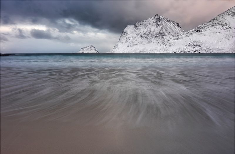 Haukland Beach, Lofoten by Lionel Fellay  This is a view of Haukland Beach on the Lofoten Islands, This area has a complex weather in winter, we can say that the conditions are changing ...  http://lp-mag.com/txwn