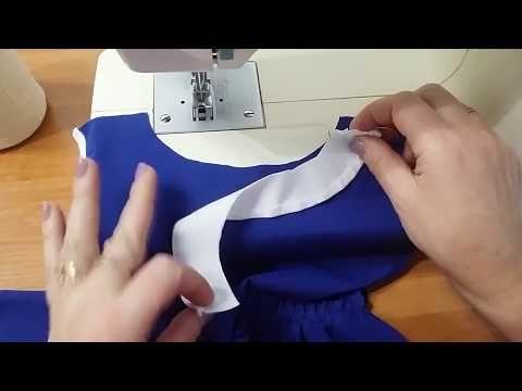 4afd0cfe7ade как получить идеально ровный вырез горловины при пошиве платья, блузки,  топа, туники и т п урок 1 - YouTube