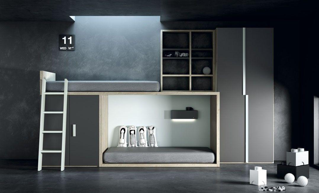 Te presentamos un diseño para la habitación de tus hijos con una #camatren de Tegar Mobel
