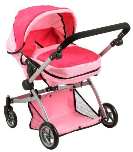 Deluxe Twin Doll Pram Stroller Pink Amazon Toys Games Twin
