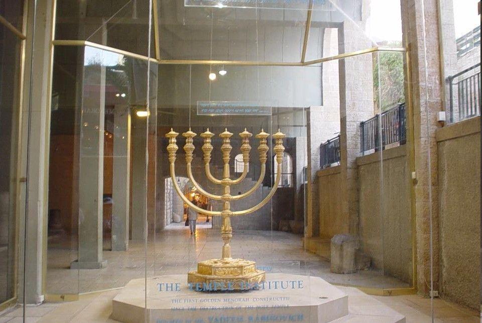 Biblical History Old Testament Menorah Replica Golden Lamps Menorah Oil Lamps