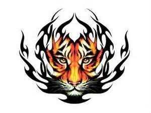 Download Tattoos Wallpaper Tiger Tattoo Tribal Tribal Tiger