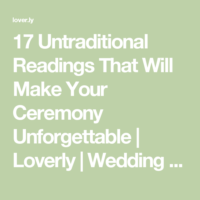17 Untraditional Readings That Will Make Your Ceremony