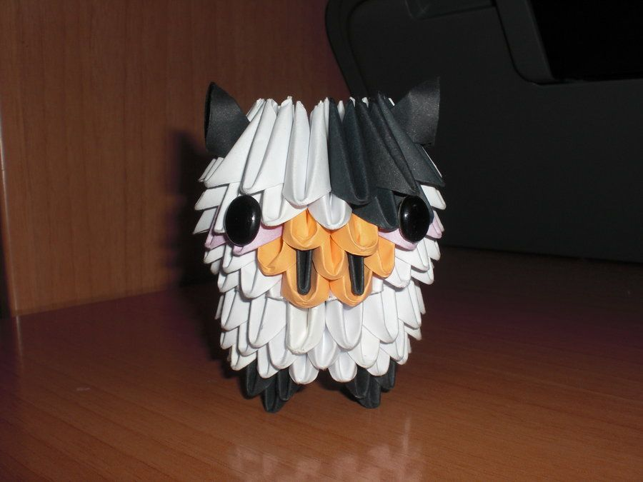 Cow origami 3d by on deviantart - Origami 3d animaux ...