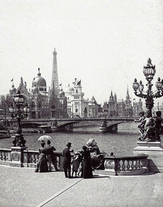 Alexander III Bridge in Paris 1900