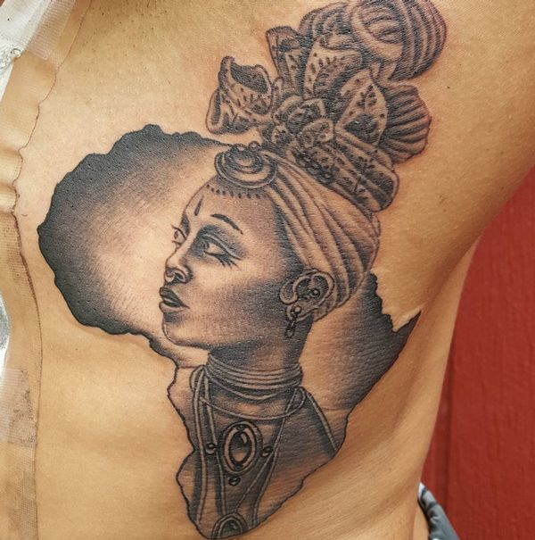 Image result for african woman tattoo | Tats | Pinterest ...