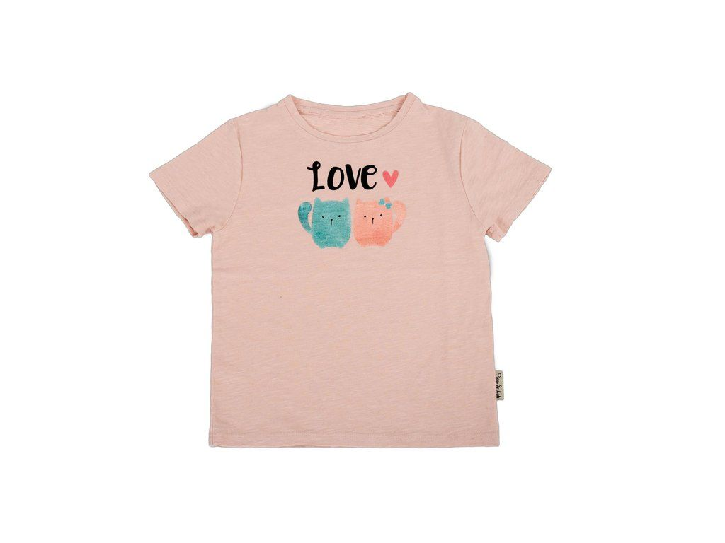 Girls T-shirt Pink Twin Cats | Twins, Cots and Tutu