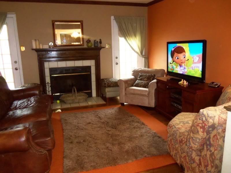 rooms with orange accent wall the evolution of a living room pics inside home decorating