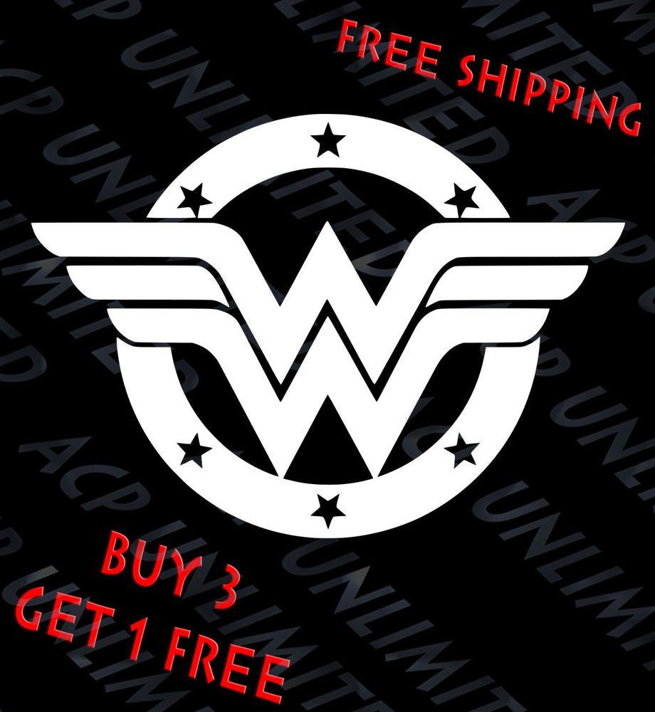 Wonder Woman Stars Badge Vinyl Decal Sticker Car Window Laptop Unbrandedgeneric Vinyl Decal Stickers Star Badge Car Stickers [ 1000 x 920 Pixel ]