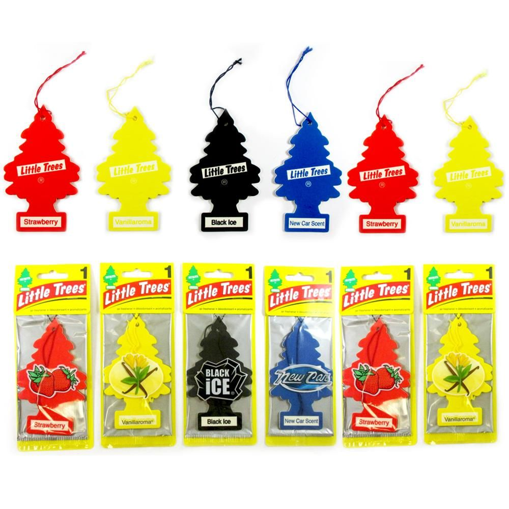 6PK Car Air Fresheners Little Trees Auto Assorted Scents