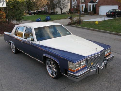 88 Cadillac Fleetwood Brougham*Custom *Lowered *DUB Wheels/New Tires