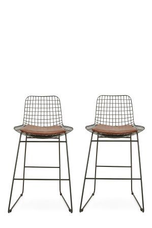 Miraculous Next Set Of 2 Marcy Bar Stools Black Bar Stools Stool Home Ocoug Best Dining Table And Chair Ideas Images Ocougorg