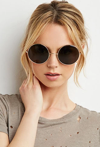 Oversized Round Metal Sunglasses | Forever 21 | #f21accessorize ...
