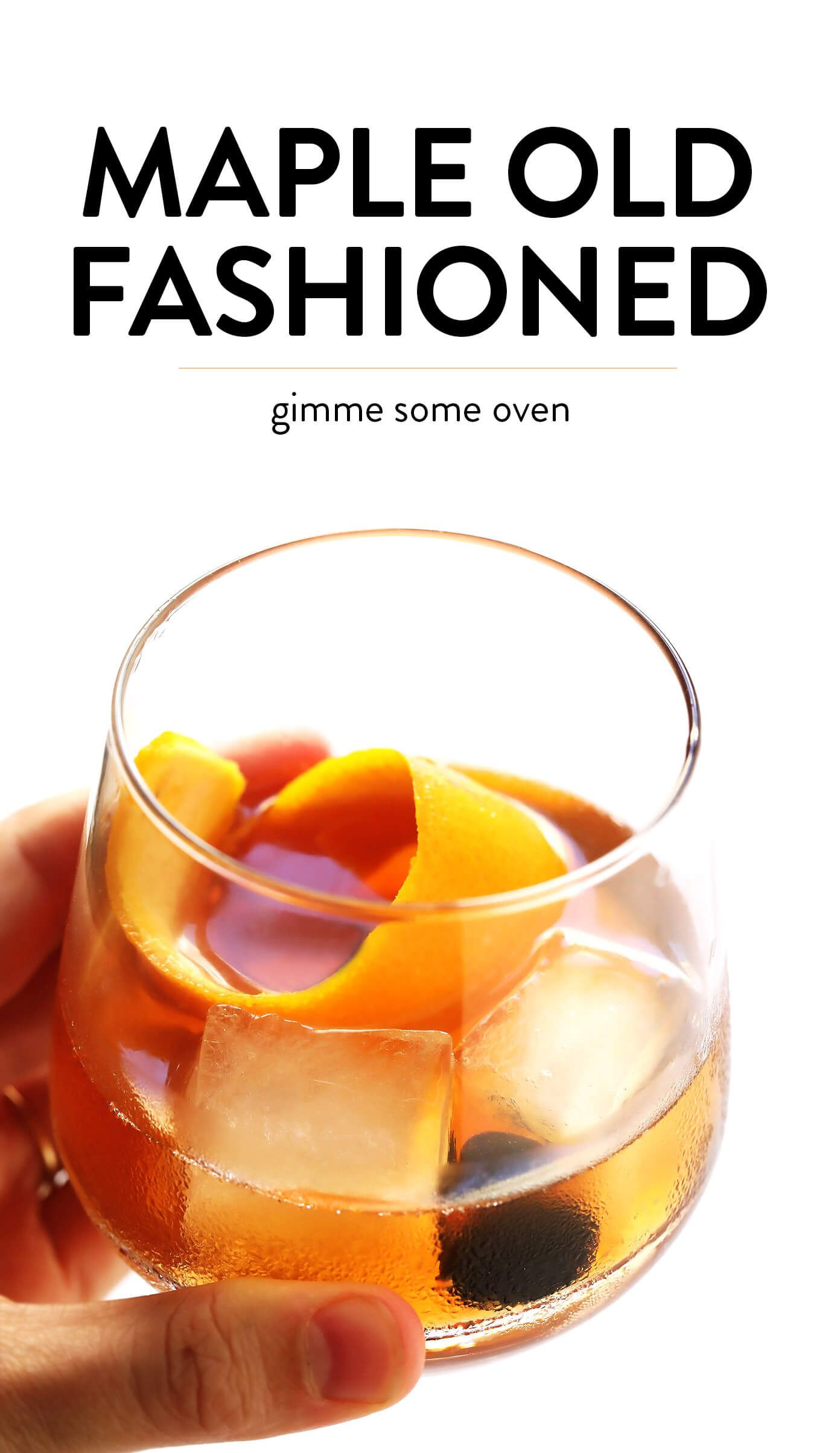 Maple Old Fashioned Cocktail #cocktaildrinks