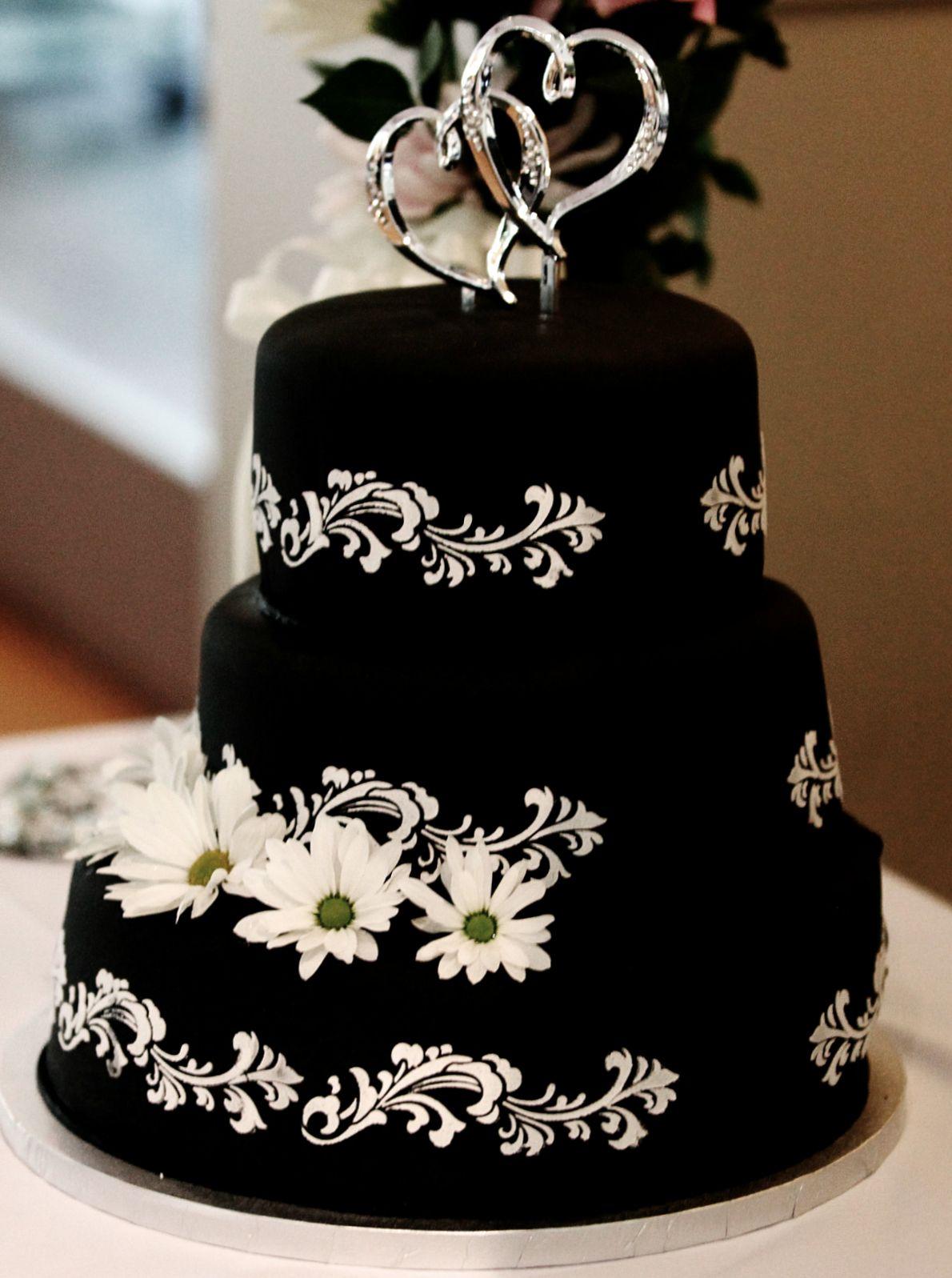 Black Velvet Wedding Cake
