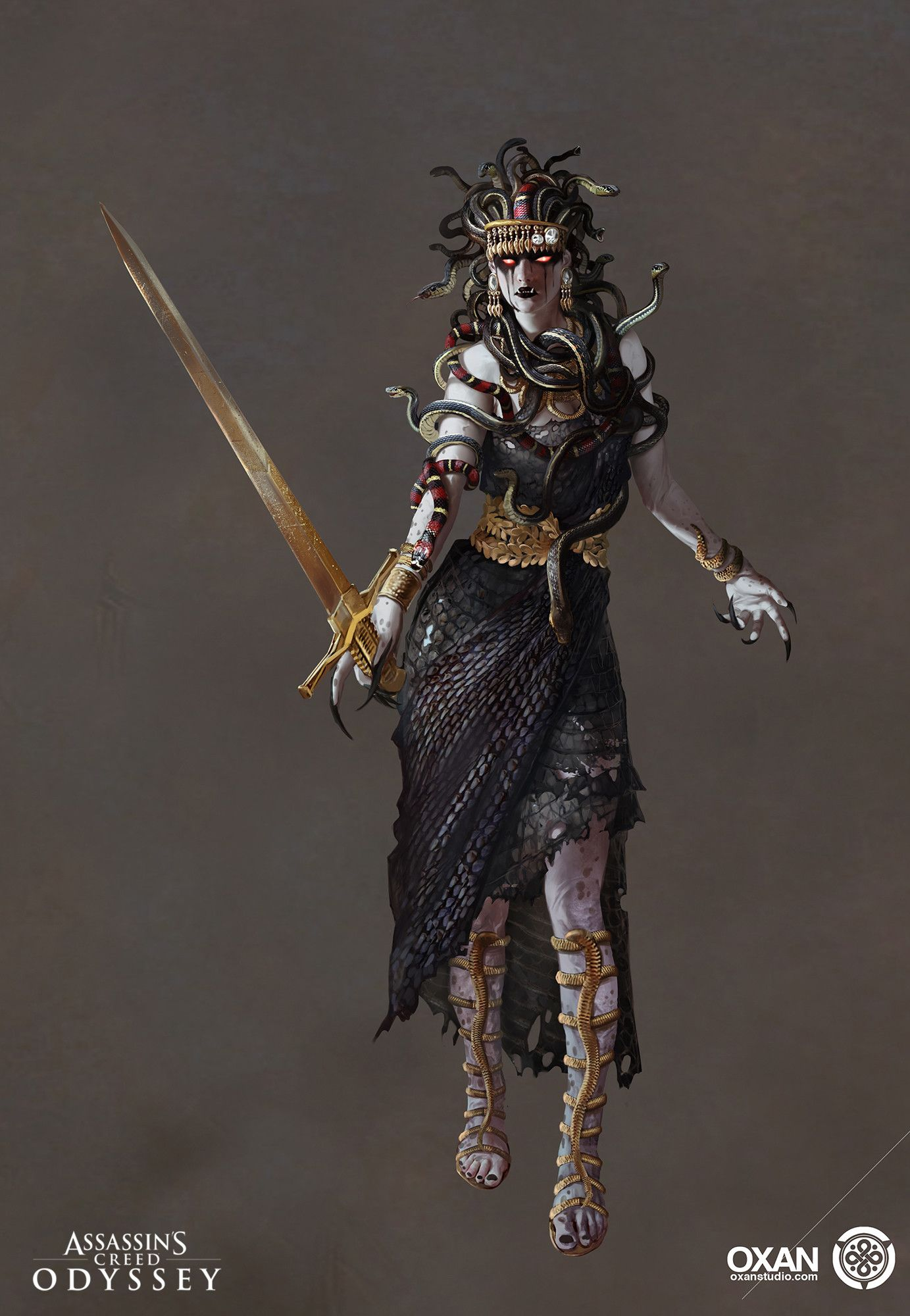 Assassin's Creed Odyssey Medusa : assassin's, creed, odyssey, medusa, Selected, Works., Assassin', Creed, Odyssey's, Character, Development, Ubisoft, Quebec, Assassins, Odyssey,, Artwork