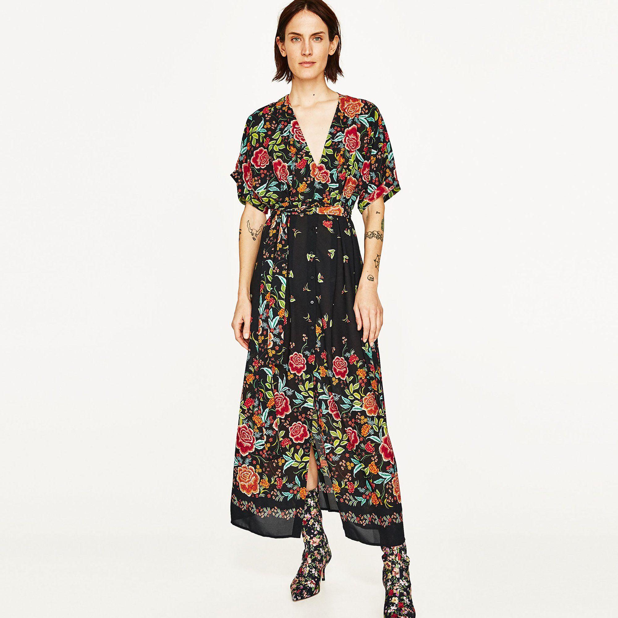 a6134abae62 Robes longues printemps été   une robe Zara