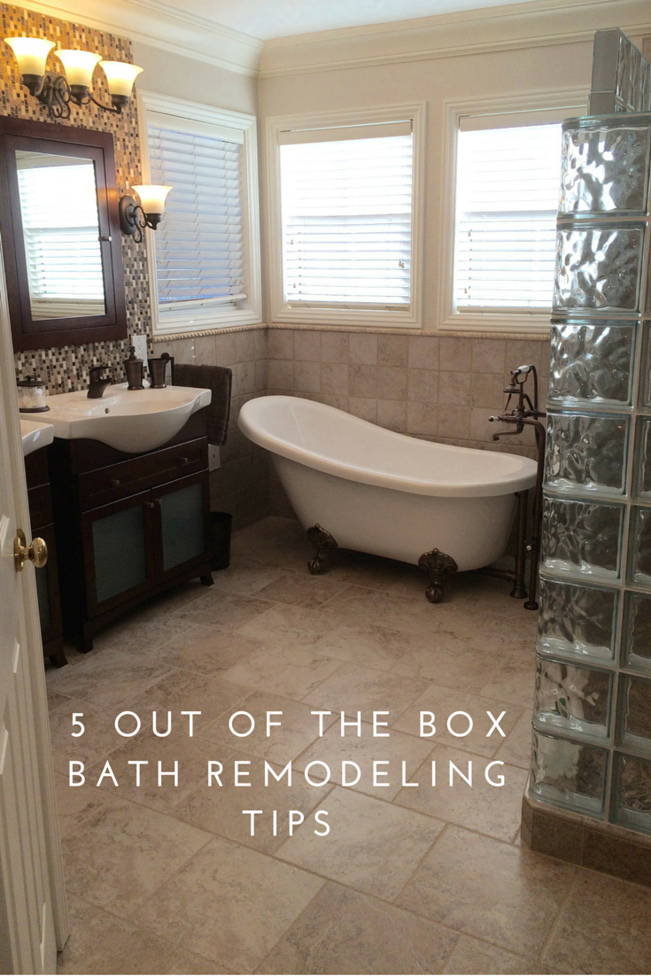 5 Out Of The Box Remodeling Tips For A Master Bathroom  Master Awesome Bathroom Remodel Tips Design Inspiration
