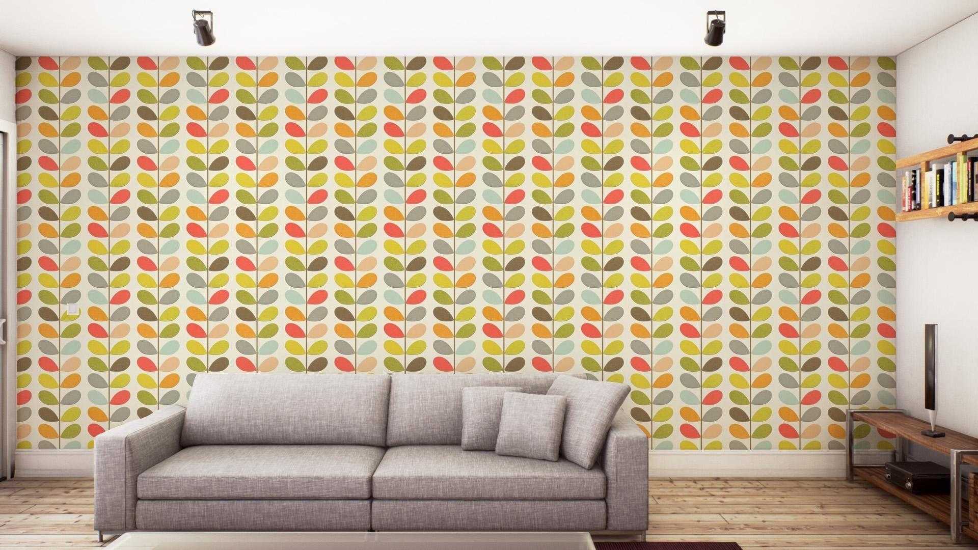 Buy Orla Kiely 110384 Multi Stem Wallpaper Orla Kiely
