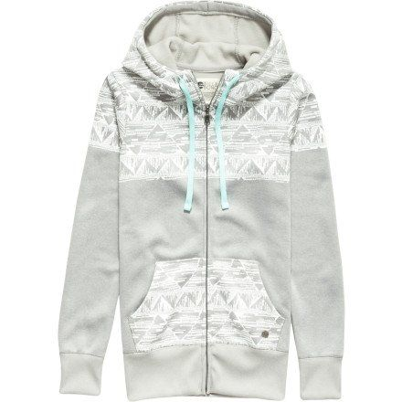 Billabong Juniors Ride Out Zip Up Hoodie, Athletic Gray, Large - http://www.immmb.com/women-clothing/billabong-juniors-ride-out-zip-up-hoodie-athletic-gray-large.html/