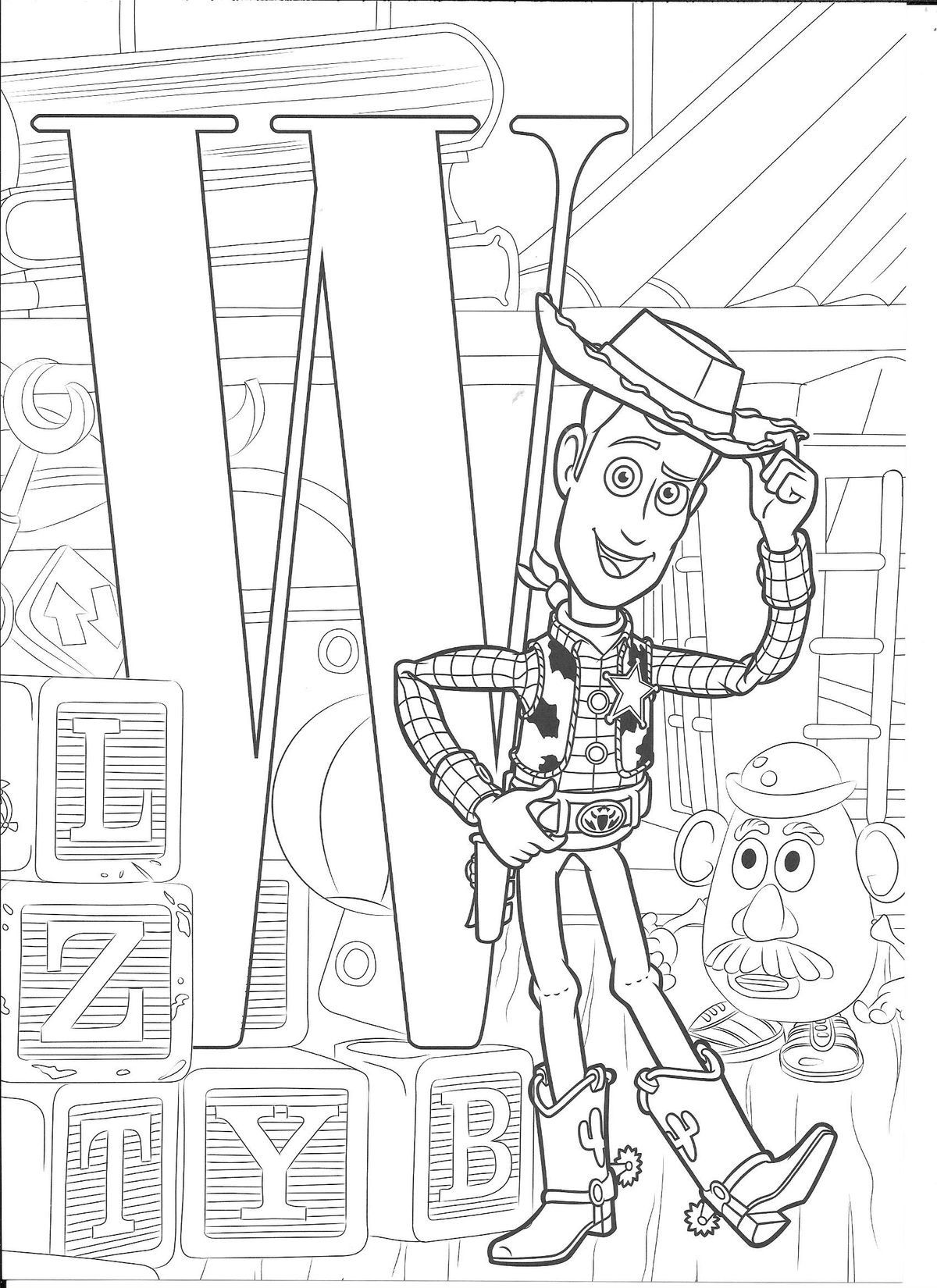 Pin By Melanie C On Alphabet Coloring Sheets Abc Coloring Pages Alphabet Coloring Pages Toy Story Coloring Pages [ 1650 x 1200 Pixel ]