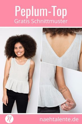 Einfaches Peplum Top | Diy clothes, Diys and Sewing patterns