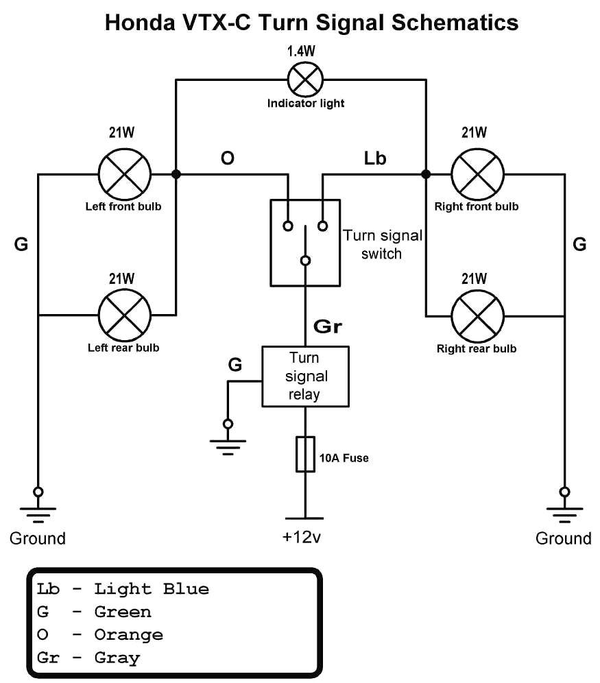 Basic Turn Signal Wiring Diagram: Motorcycle Turn Signal Wiring Diagram Tamahuproject Org At ,Design