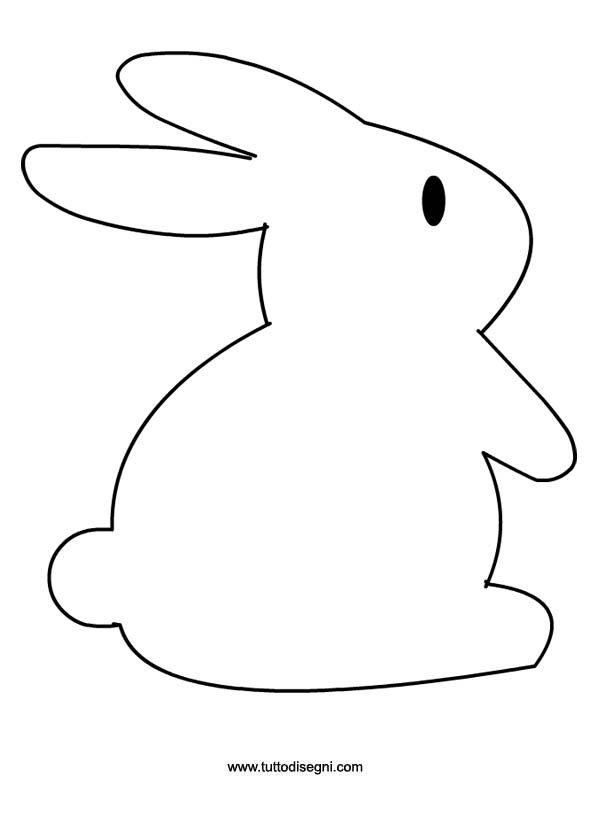 Sagoma coniglio per lavoretti pasqua for Coniglio disegno per bambini