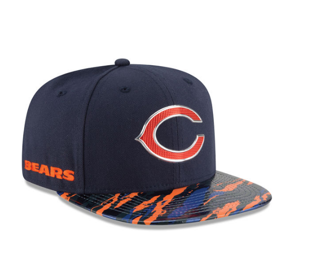 new arrivals a5ce5 6eca4 CHICAGO BEARS NEW ERA NAVY COLOR RUSH ON-FIELD ORIGINAL FIT 9FIFTY SNAPBACK  ADJUSTABLE HAT