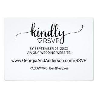 Image Result For Wedding Rsvp Business Cards