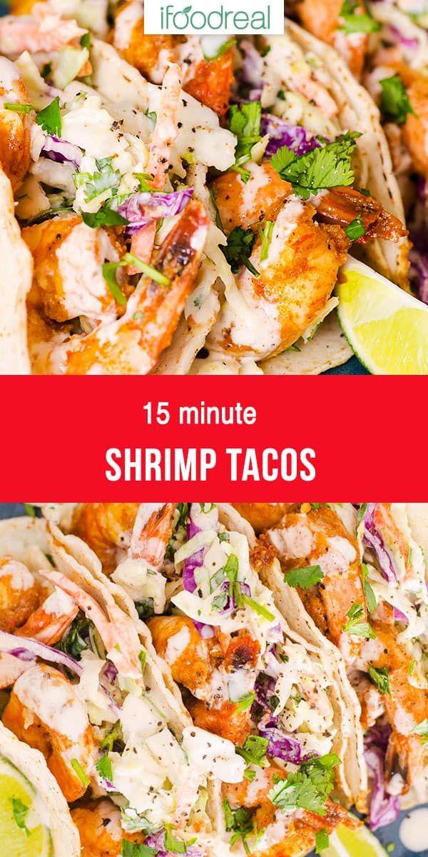 15 Minute Shrimp Tacos (Video) - iFOODreal