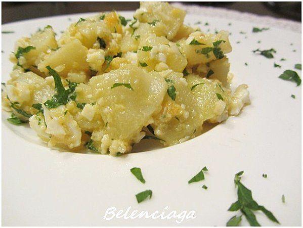 ensalada de patata en vinagreta