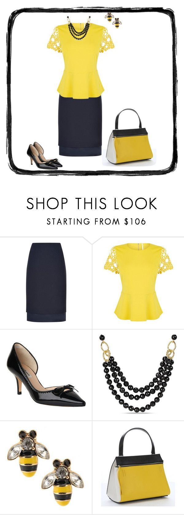 """""""Untitled #1000"""" by milliemarie ❤ liked on Polyvore featuring Jaeger, Karen Millen, L.K.Bennett, Ice and CÉLINE"""