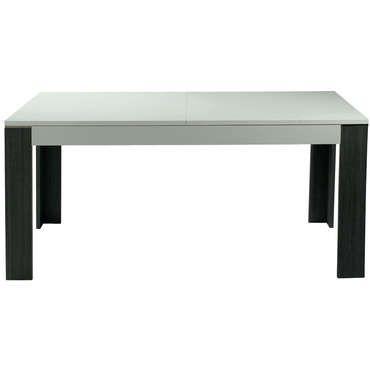 Cool Table 160 Cm Avec Allonge Wave Coloris Chene Grise Blanc