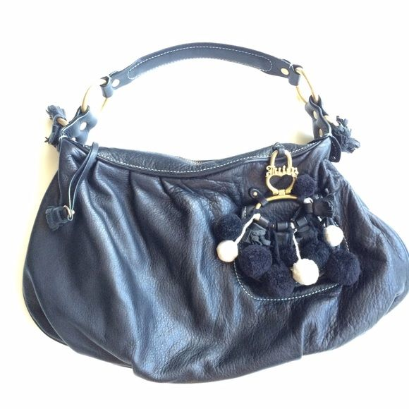 Leather Juicy Couture Pom Bag