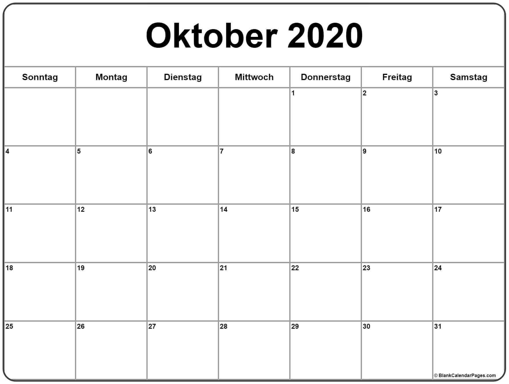 Oktober 2020 Kalender Druckbare Vorlagen In Pdf Word Excel 8 In 2020 Kalender Zum Ausdrucken Kalender August 2019 Kalender