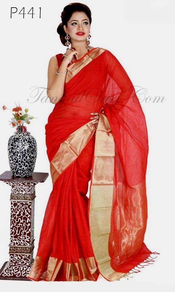 342af077eb2 Tangail Cotton Jori Par Pure Silk Sarees, Cotton Saree, Jamdani Saree,  States Of