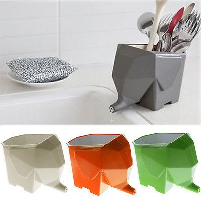 Delicieux Cute Cutlery Drainer Elephant Kitchen Bathroom Dish Brush Holder Rack Dryer  Tray