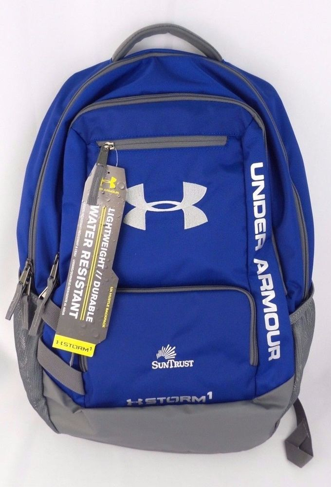 dc501a4f7886 Under Armour Hustle Backpack Storm 1 Unisex Royal Blue School Travel Bag  NWT  UnderArmour  Backpack