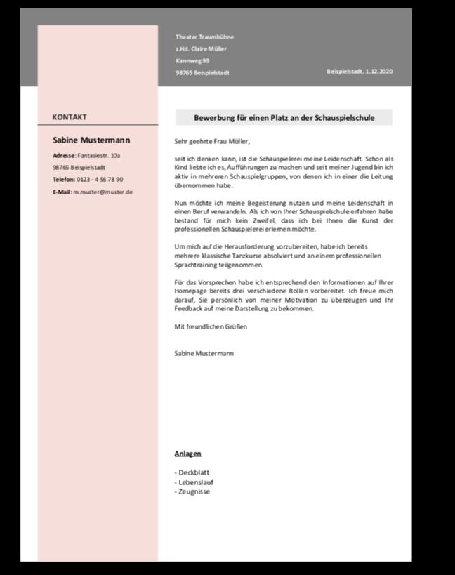 Formatvorlage Fur Dein Anschreiben Bewerbungstraining 15