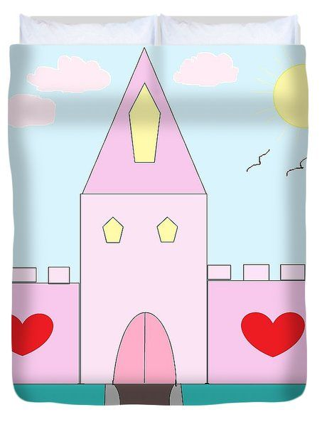 Duvet Cover featuring the photograph Pink Castle  by Mesa Teresita