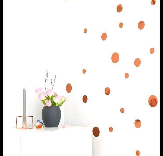 Schön Wandtattoo   Kupfer Konfetti Mix 30er Set Metallic Glanz Dots   Ein  Designerstück Von Lovelybird Bei DaWanda