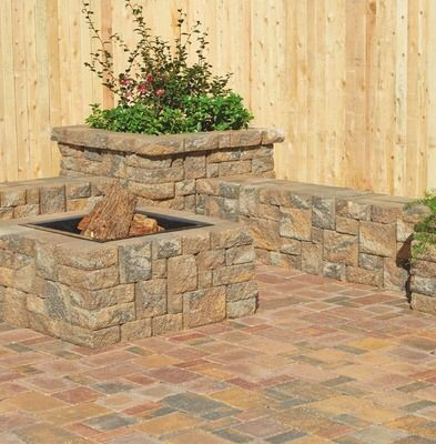 "Retaining Wall Home Depot shared from flipp: pavestone 10.5""x7"" splitrock large retaining"