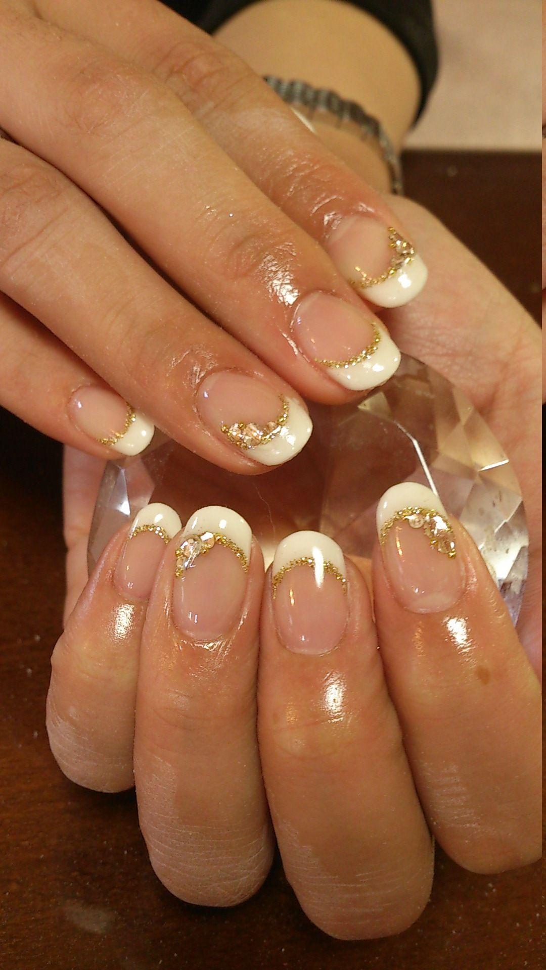 White French nails | Uñas redonditas | Pinterest | White french ...